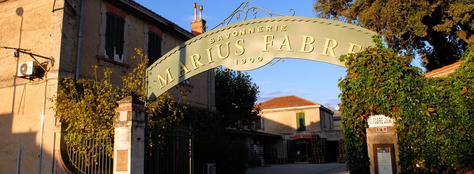 Entrée de la savonnerie Marius Fabre à Salon-de-Provence