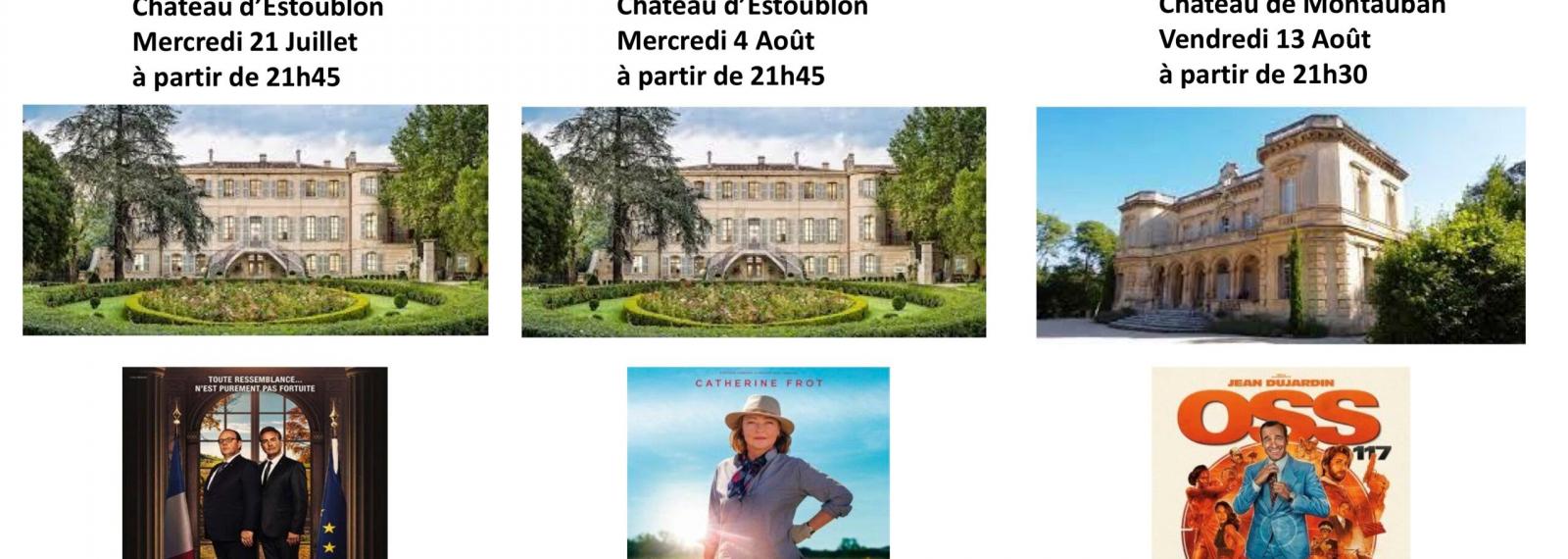Cinéma de plein air Estoublon et Château Montauban