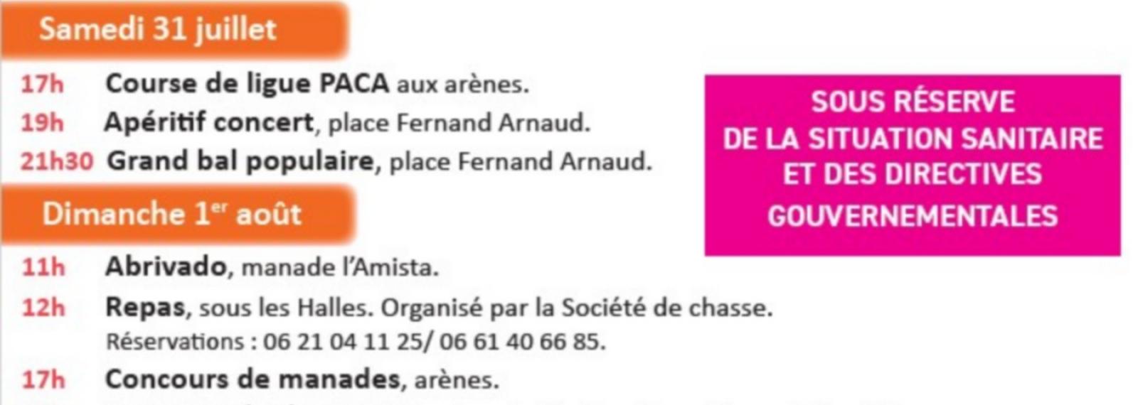 Fêtes Votives de la Saint-Pierre 2021