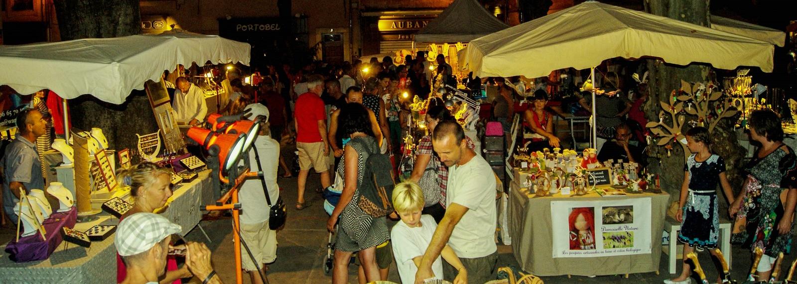 Marché nocturne des Créateurs tous les mardis soirs à Saint-Rémy-de-Provence
